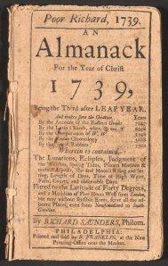 Poor Richard's Almanack, 1739; US Library of Congress