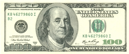 100 US Dollars Front